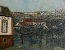MAURICE UTRILLO (1883-1955) - La Butte Pinson à Montmagny Signed 'Maurice Utrillo. [...]