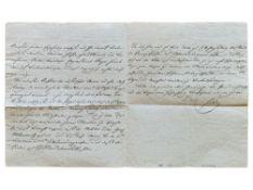RADETZKY JOSEPH WENZEL, VON RADETZ (1766-1858) - Autograph Signed letter. [...]