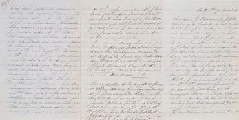 EMPRESS EUGÉNIE (1826 - 1920) - 2 Fine Letters to Napoleon III. 20,5 x 13,2 cm 1. [...]