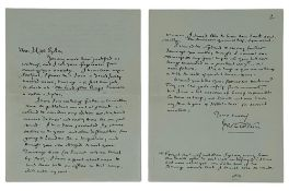 J.R.R. TOLKIEN (1892-1973) - Signed autograph letter to illustrator Miss Sykes. [...]