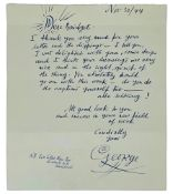 GROSZ (GEORGE) 1893-1959 - Autograph letter with signature of the German [...]