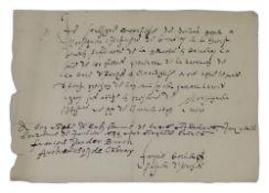 FRANÇOIS VAN DER BURCH (1567-1644) - Autograph letter signed 23 x 16 cm 1pp Founder [...]