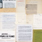 HENRI GROUÈS, KNOWN AS THE ABBÉ PIERRE (1912-2007) - Set of notes and [...]