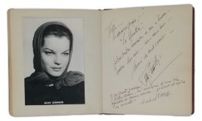 LIVRE D'OR OF THE THEATRE OF M. AND MME PREVAT, WITH ROMY SCHNEIDER, SYDNEY BECHET [...]
