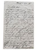 ANTON RUBINSTEIN (1829-1894) - Autograph letter to the Dutch composer and organist [...]