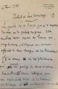 """JEAN COCTEAU (1889-1963) - Manuscript letter signed """"Jean Cocteau"""". 15 [...]"""