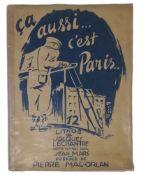 JACQUES LECHANTRE (1907-1977) 12 Lithographs of Paris - « Ça aussi... c'est Paris [...]