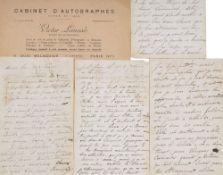 JONGKIND JOHAN BARTHOLD (1819-1891) - Autograph letters. 1 letter, JOINT 3 long [...]