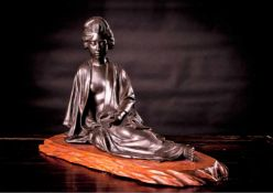 A Large Tokyo School Bronze of a Lady