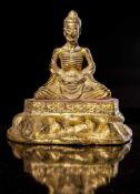A Rare Bronze Figure of the Emaciated Buddha