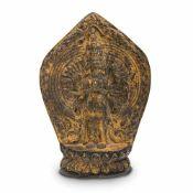 A Gilt Bronze Tsa-Tsa of Avalokiteshvara