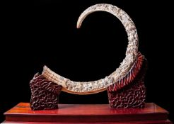 An Exceptionally Carved Wooly Mammoth Tusk