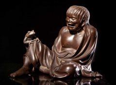 A Bronze Figure of Gama Sennin