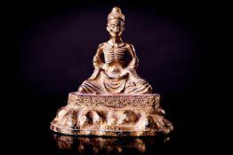 A Rare Bronze Figure of an Emaciated Buddha