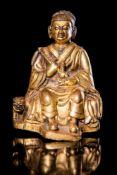 A Gilt Bronze Figure of Dharmatala.