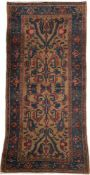 HAMEDAN Persien, um 1950222 x 102 cm. Gebrauchsspuren.- - -25.00 % buyer's premium on the hammer