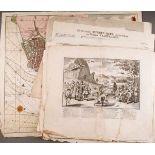 GRAFIKSammlung untersch. Kupferstiche und einer Karte von Enkhuysen (teilw. 18. Jhdt.) 25-tlg.,