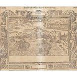 GRAFIKAltes Buchblatt mit Stadtdarstellung von Neapel 1. Hälfte 17. Jhdt. Holzschnitt auf Papier.