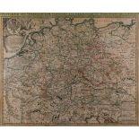 GRAFIKPostarum seu Veredariorum Stationes per Germaniam et Provincias adiacentes Kupferstich, farbig