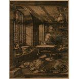GRAFIKDruck nach Dürers 'Der heilige Hieronymus im Gehäus' Offset (nach Original-Kupferstich) auf