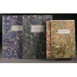GRAFIKKonvolut aus drei Schriften der Edition Tiessen Deutsch, Neu-Isenburg, Ende 20. Jhdt.,