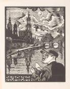 CONRAD FELIXMÜLLER1897 Dresden - 1977 Berlin'ZEICHNER VOR DRESDEN' (1930) Holzschnitt auf