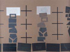WILLIAM CHILDRESS1941OHNE TITEL Mischtechnik auf braunem Papier. BM 48 x 65,5 cm (R. 55,5 x 73,5