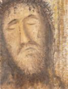 ALÉN DIVIS1900 Podebrady (Tschechien) - 1956 PragJESUSKOPF Öl auf Leinwand. 45 x 35 cm. Unten