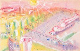 ARMAND BOUTEN1893 Venlo - 1965 AmsterdamSOMMER (1952) Gouache über Bleistift auf chamoisfarbenem
