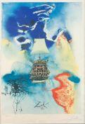 SALVADOR DALÍ1904 Figueres, Girona - 1989 ebenda'MENSCH UND MEER' (1972) Farboffset auf Velin. SM
