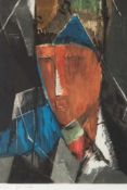 JEAN CROTTI1878 Bulle (Schweiz) - 1958 Paris'PORTRAIT D'HOMME' Farbaquatinta auf Bütten. SM 46,5 x