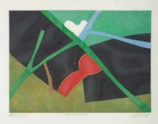 BERTRAND DORNY1931 Paris - 2015 ebenda'PETIT VOYAGE, LOINTAIN' Farbige Aquatintaradierung mit