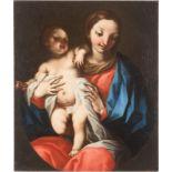 FRANCESCO CELEBRANO (ATTR.)1729 Neapel - 1814 EbendaMUTTERGOTTES MIT DEM CHRISTUSKIND Öl auf