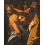 SEBASTIANO DEL PIOMBO (ATTR.)Um 1485 Venedig - 21. Juni 1547 RomCHRISTUS, DAS KREUZ TRAGEND Öl auf