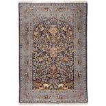 ISFAHAN KORK AUF SEIDE MIT SEIDE Persien, 2. Hälfte 20. Jh.164 x 110,5 cm. Minimale