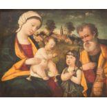 FRANCESCO BISSOLO (SCHULE)Um 1470 Treviso - 1554 VenedigDIE HEILIGE FAMILIE MIT JOHANNESKNABEN Öl