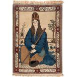 KESCHAN Persien, Mitte 20. Jh.113 x 79 cm. Leichte Gebrauchsspuren.