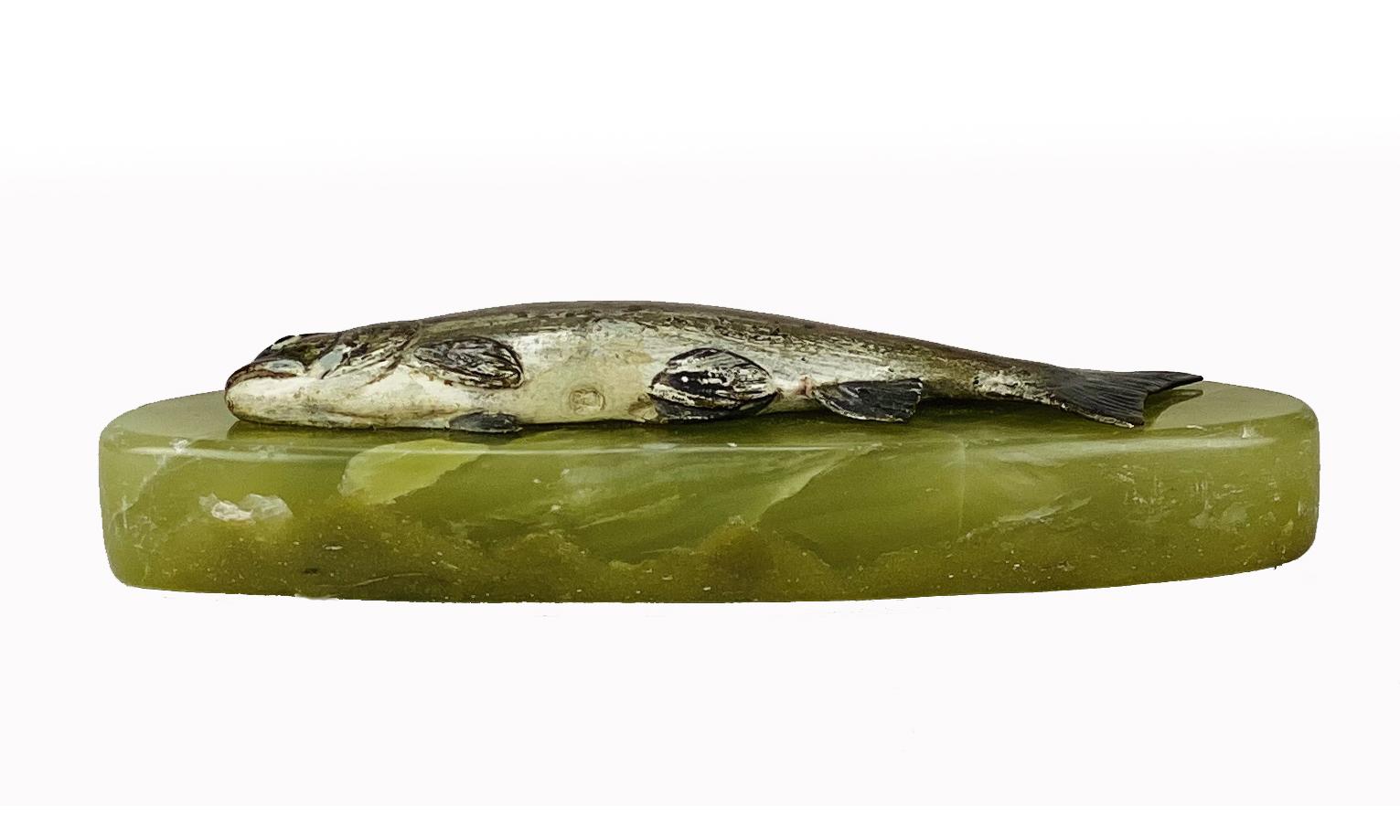 Lot 150 - Franz Bergman (1861 ~ 1936) Vienna bronze of a Fish
