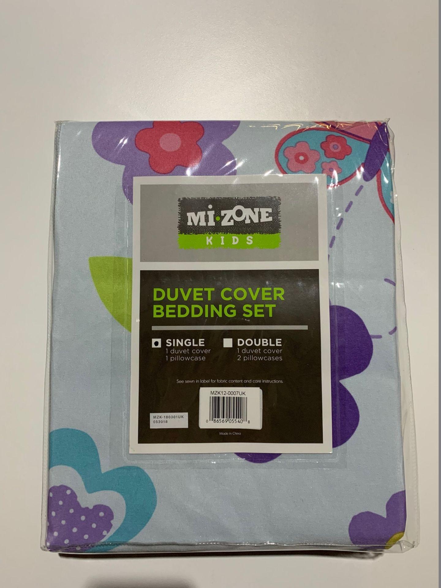 Lot 80 - 1 x Mi-Zone Fluttering Farrah Single Duvet Set - Product Code MZ12-0007UK (Brand New - RRP £21.99)