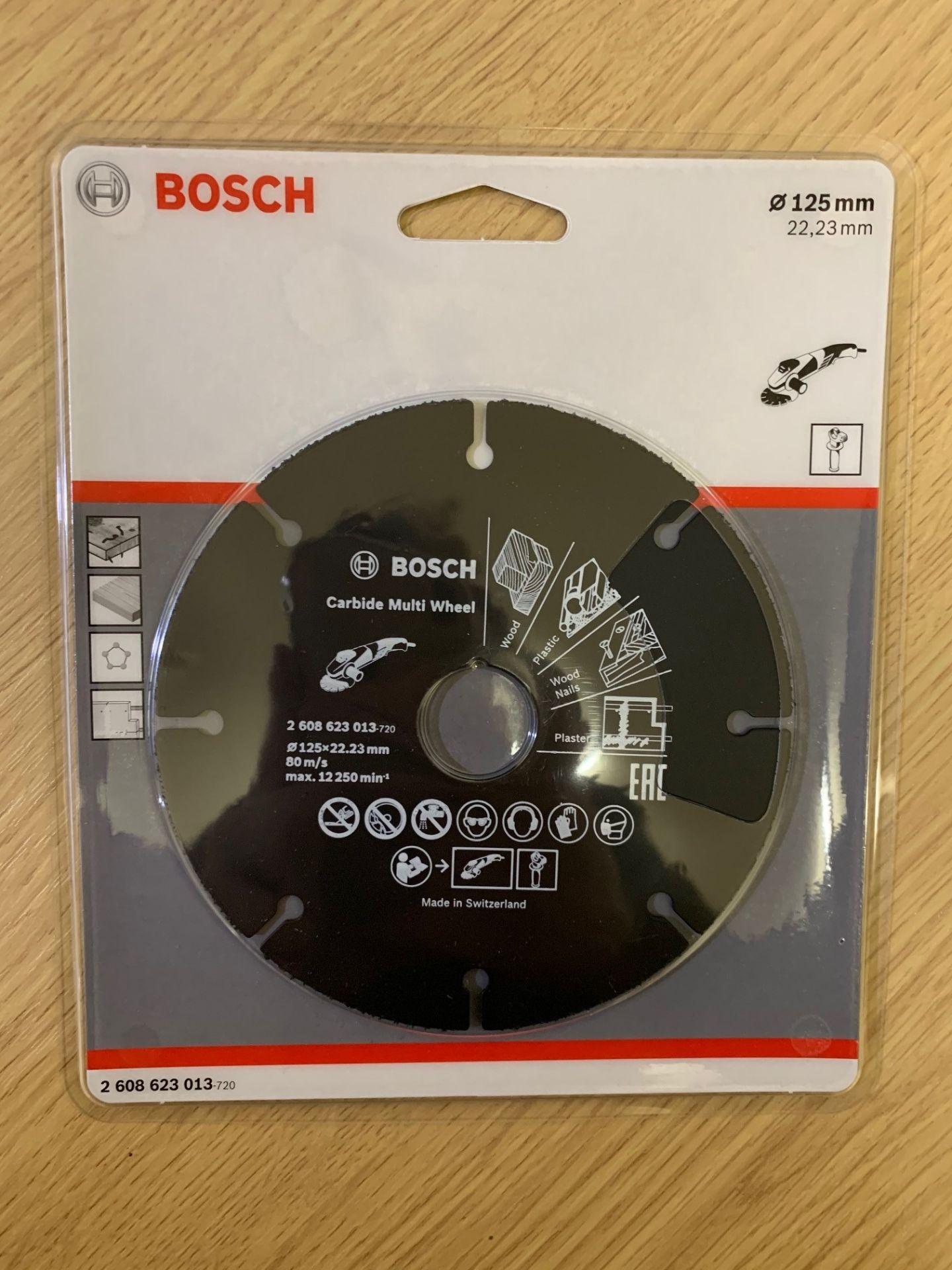 Lot 272 - 5 x Bosch 125mm Carbide Multi Wheels - Brand New