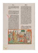 [BOOK ILLUSTRATION -- WOODCUT]. -- [BIBLE, in German. Nuremberg: Anton Koberger, 17 February 1483.]