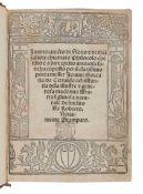 BOCCACCIO, Giovanni (1313-1375). [Filocolo]. Inamoramẽto di Florio & di Biãzafiore chiamato Phil