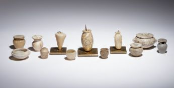 Twelve Egyptian Alabaster, Breccia and Other Stone