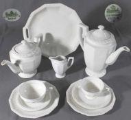 """1 Tee- und Kaffeeservice """"Rosenthal, Maria weiß"""", bestehend aus 1 Tee-und 1 Kaffeekanne,"""