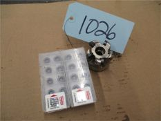 CNC Tooling, 1 pcs. with 4 opened boxes of inserts