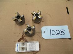 CNC Tooling, 3 pcs. with 1 opened box of inserts