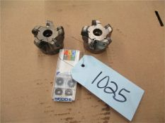CNC Tooling, 2 pcs. with 1 opened box of inserts