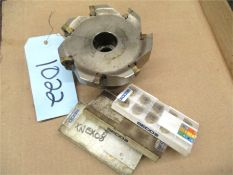 CNC Tooling, 1 pcs. with 3 opened box of inserts