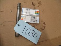 CNC Tooling, 1 pcs. with 2 opened box of inserts