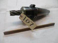 Taper 50 Solid Holder with End Mill